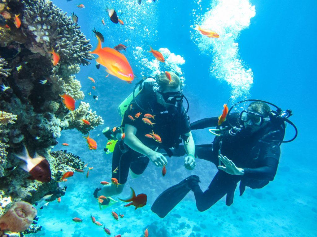 moniteur de plongée sous marine